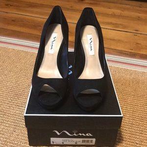 Nina Fiesta velvet rhinestone heels